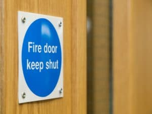 Fire Door installation at Element Passive Fire Protection